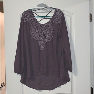 Tops - Purple high low blouse